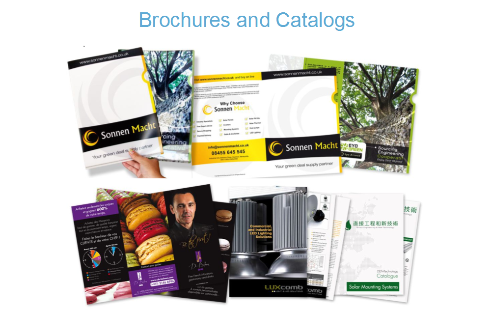 Brochures and Catalogs
